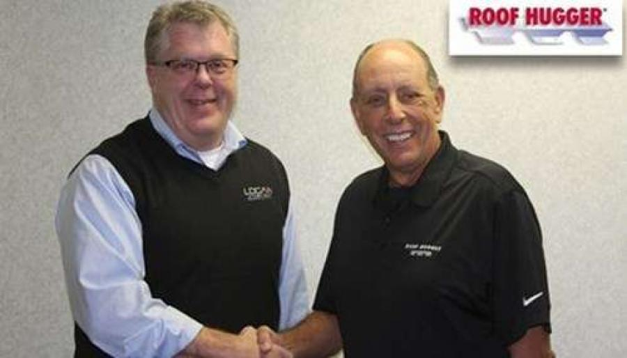 (L to R) LSI Group CEO Robert Baker and Roof Hugger President Dale Nelson.