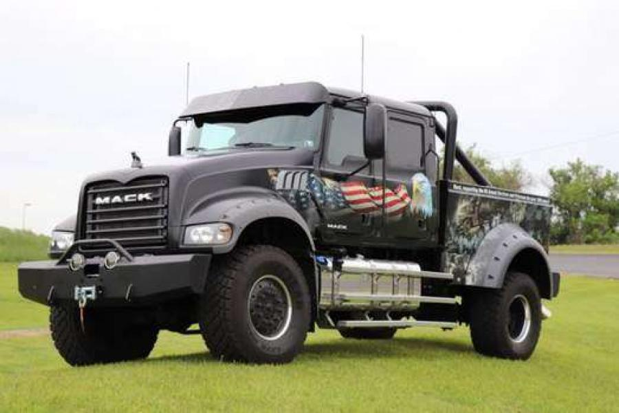 """Mack Trucks employees again will participate in the Rolling Thunder – Ride for Freedom rally Memorial Day weekend to pay tribute to America's fallen military. This year, Mack's Ride for Freedom truck is Jack Mack, a custom-built one-of-a-kind mega-crew cab named after John """"Jack"""" M. Mack, one of the founders of Mack Trucks."""