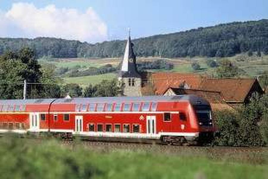 Double-deck train operated by Deutsche Bahn. Photo: Copyright Bombardier