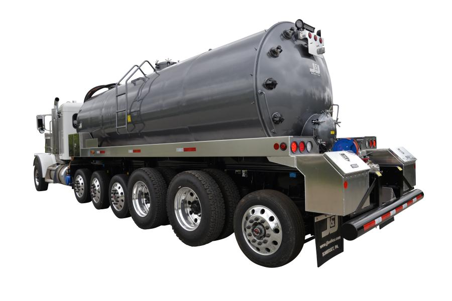 J&J mounted its first stainless steel tanker on a 7-axle chassis that is designed to meet bridge laws Ohio.