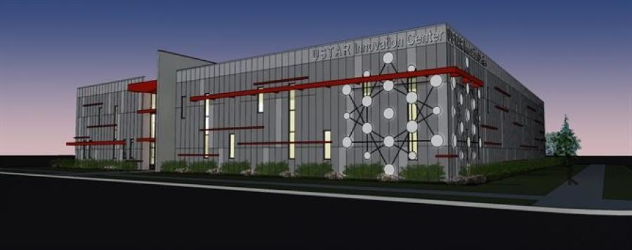 An artist's rendering of the new Utah Science Technology and Research Innovation Center being constructed at Falcon Hill National Aerospace Research Park located at Hill Air Force Base. (hill.af.mil photo.)