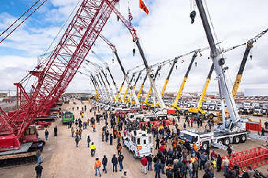 Ritchie Bros. has close to 200 cranes listed in upcoming auctions.