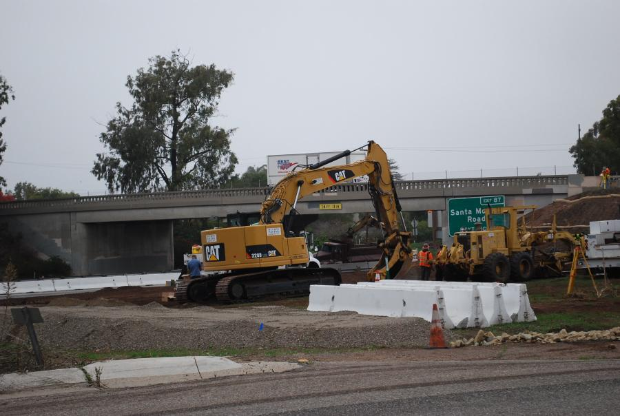 Workers are building two new highway overcrossings as part of California's $60 million Highway 101, Linden and Casitas Pass Project.