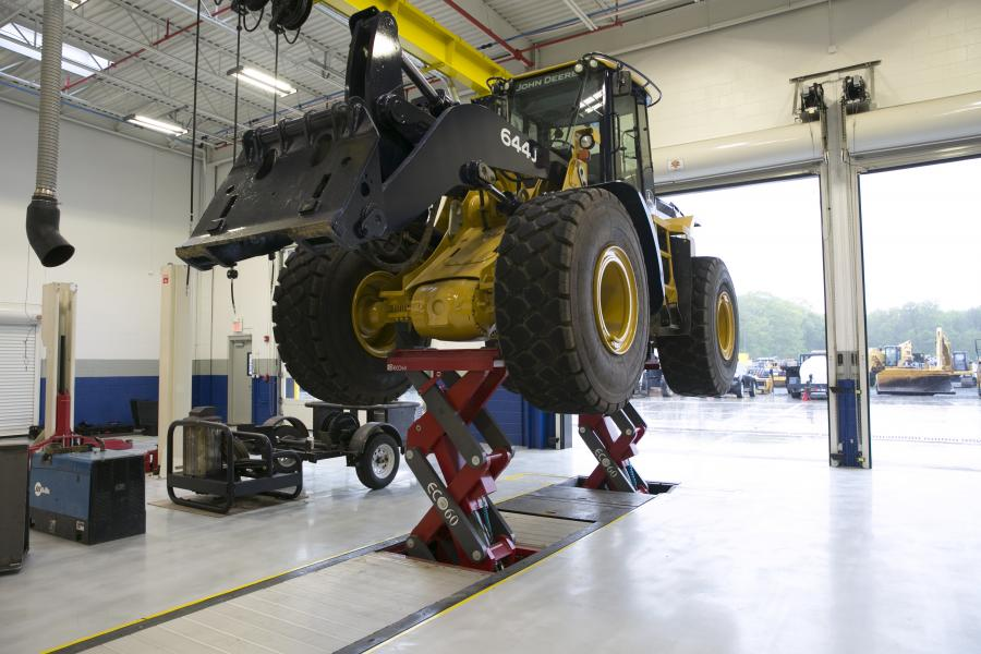 The Stertil-Koni ECOLIFT provides wheels-free lifting via an ultra shallow, full-rise in-ground and axle engaging vehicle lift.