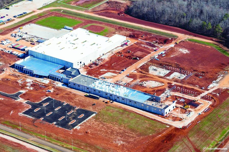 Work is progressing on GE Aviation's new facilities in the Huntsville, Ala., area.