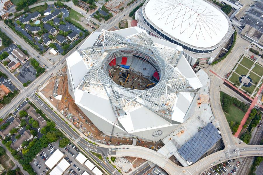 With construction of the Atlanta Falcons' new Mercedes-Benz Stadium moving closer to completion, the implosion of the Georgia Dome has been set for Nov. 20.