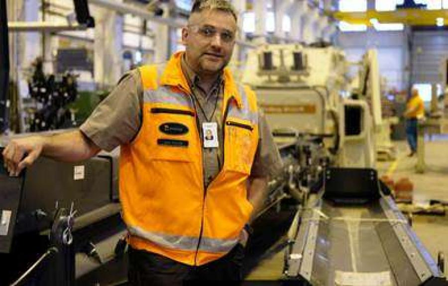 Juha Erkkilä, manager of Speedline 2 project, is pleased with the spaciousness of the new assembly line.