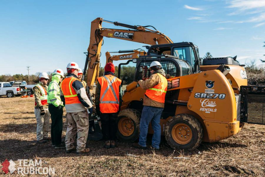 Case Construction Equipment dealer Robert Childs Inc. donated the use of five Case machines to Team Rubicon to be used for land-clearing and grasslands restoration in the Coonamessett Reservation fields in Hatchville, Mass.