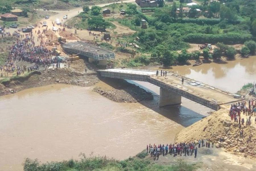 The Sh1.2 billion Sigiri Bridge in Budalang'i Constituency that collapsed.