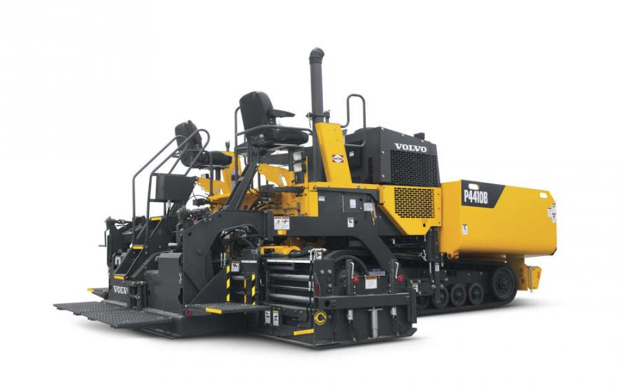 The P4410B tracked paver from Volvo Construction Equipment is a powerful machine in a compact package — bridging the gap between heavy-commercial and light-highway paving.