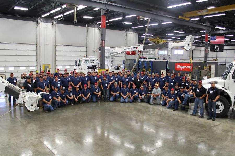 More than 65 mechanics and service technicians from 20 U.S. and Canadian utilities and co-ops participated in Terex Utilities' annual service school in June.
