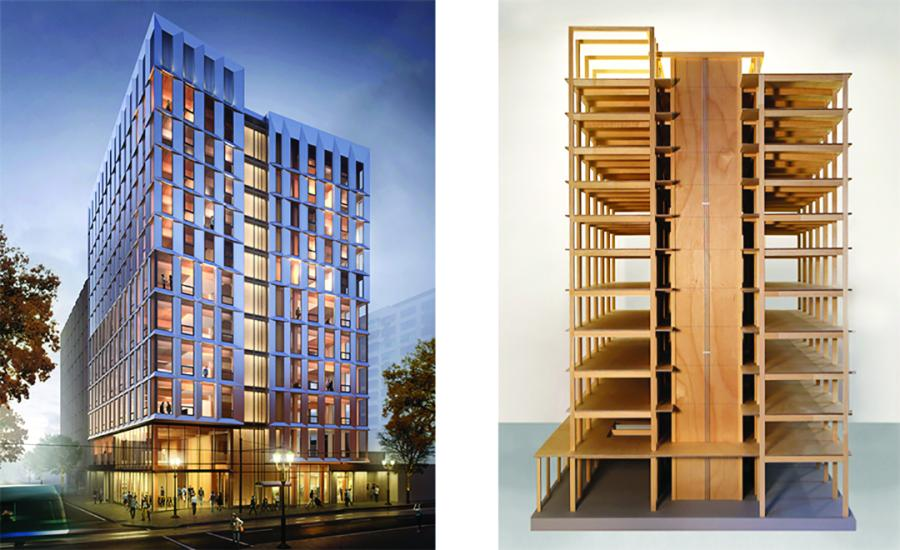 Officials in Oregon have approved construction permits for the first all-wood high-rise building in the nation.
