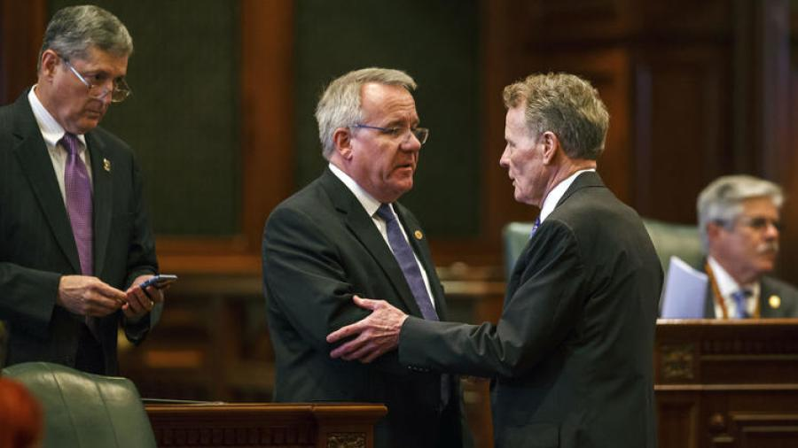 The Illinois House voted on July 6, 2017, to override Gov. Bruce Rauner's vetoes on an income tax hike and budget, breaking the state's historic budget impasse that has lasted more than two years.