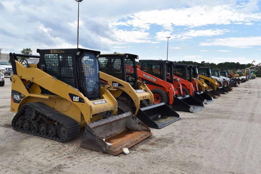 A wide selection of skid steers was available to the highest bidder.