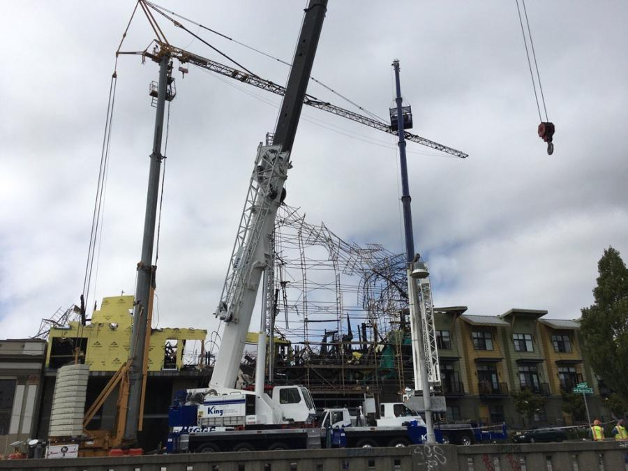 Crews worked over the weekend to bring down the crane July 8 and damaged scaffolding at the site before allowing some residents to return to parts of the neighborhood, Fire Battalion Chief Erik Logan said.