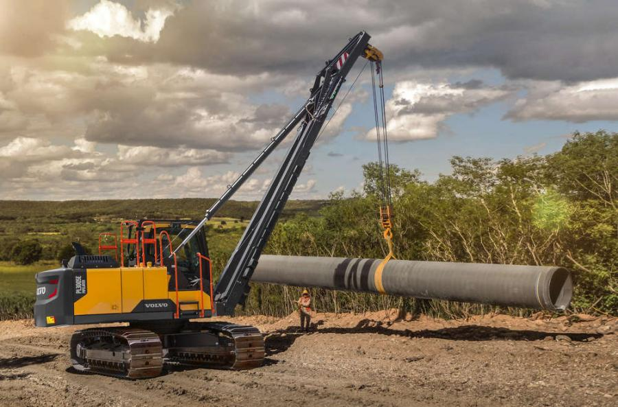 As the latest addition to the lineup of Volvo E-Series rotating pipelayers, the PL3005E boasts improvements to power, productivity and efficiency versus predecessor models, all on a 360-degree excavator-based platform, the manufacturer said.