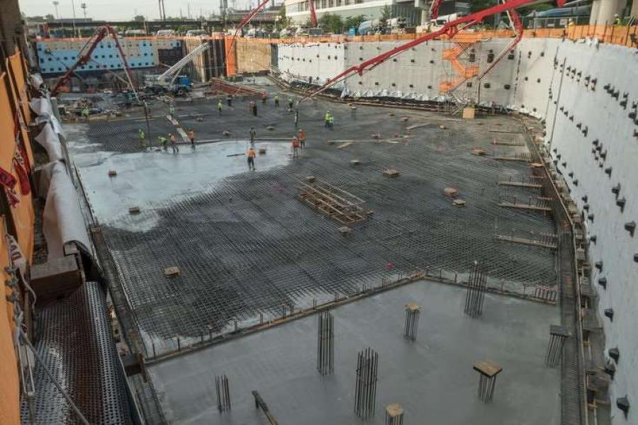 For the health system's New Patient Pavilion facility in University City, crews completed what Penn claims is the largest single concrete pour in city history.