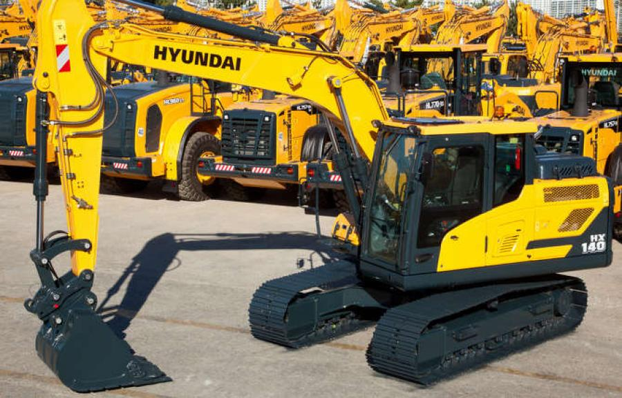 The company sold two brand new Hyundai HX140 excavators and a few other pieces the day of the opening.