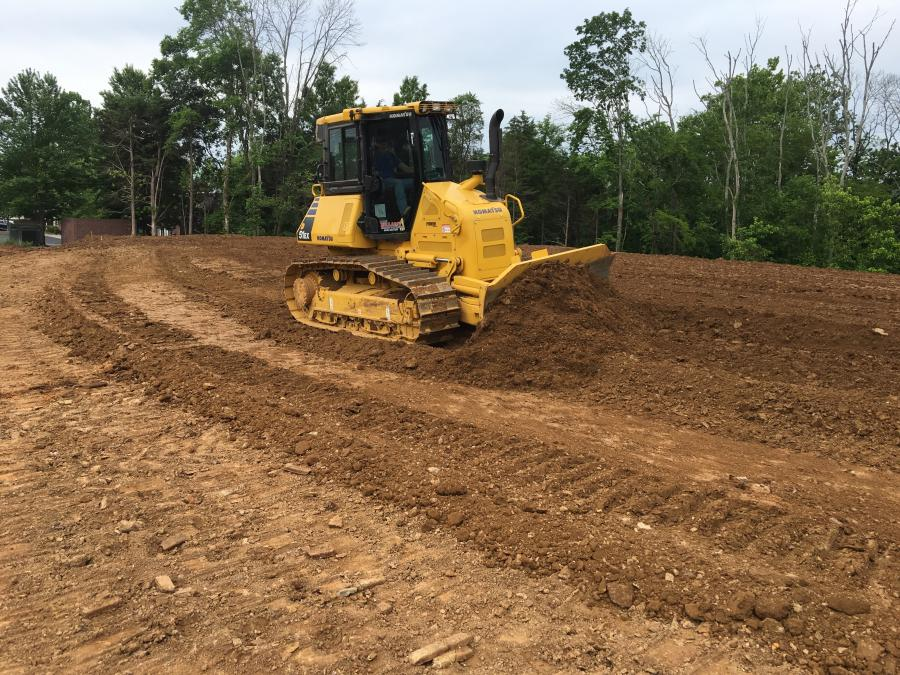 The Komatsu D51 EX dozer is being used on a variety of projects.