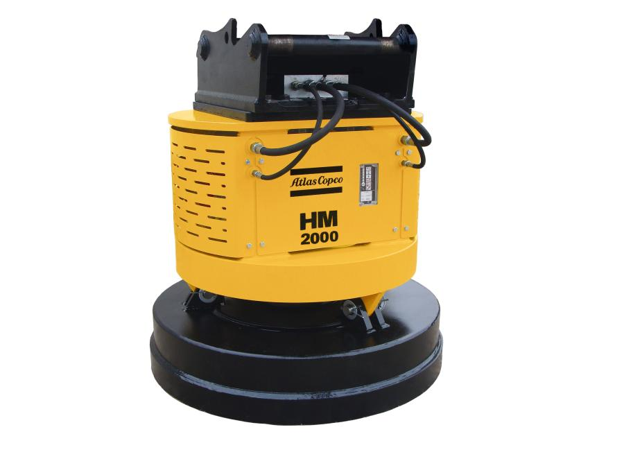 The hydro magnet features a flow divider that provides flow and pressure to an onboard hydraulically driven generator.