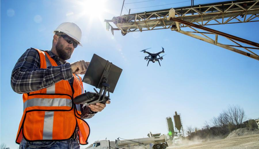 For the construction industry the drones offer updates on local operation conditions plus intelligent machine control.