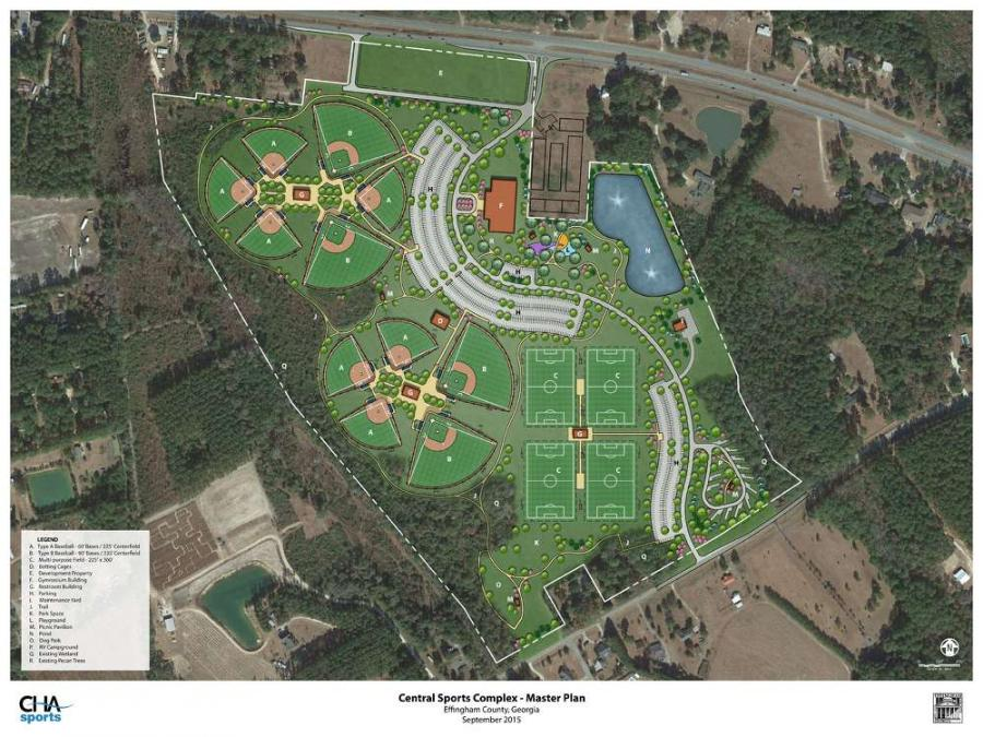 The Effingham County Central Sports Complex master plan.