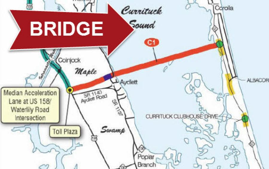 North Carolina wants to build the Mid-Currituck Bridge to make it easier to get to the northern Outer Banks. (surfsideouterbanks.com photo)