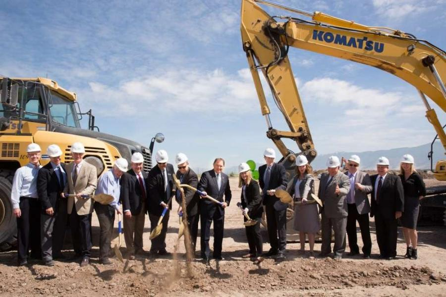 At the ceremony, Gov. Herbert commended Wasatch Resource Recovery's founders on their dedication to innovation, Utah's future, and the environment. He then ceremonially broke ground on the building site along with North Salt Lake Mayor Leonard Arave; Sen. Todd Weiler; Bruce Alder, developer of the project and owner of Alder Construction; Dal Waymant, manager of the South Davis Sewer District; and. Laura Nelson, executive director of OED.
