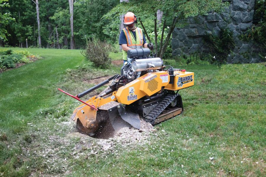 """""""The ZT1844 is designed from the ground up to outperform all other stump grinders in its class,"""" said Bandit Sales Manager Jason Morey."""