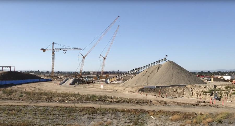 Work has kicked into full gear on a futuristic $2.66 billion football stadium that broke ground in Inglewood in mid-November 2016.