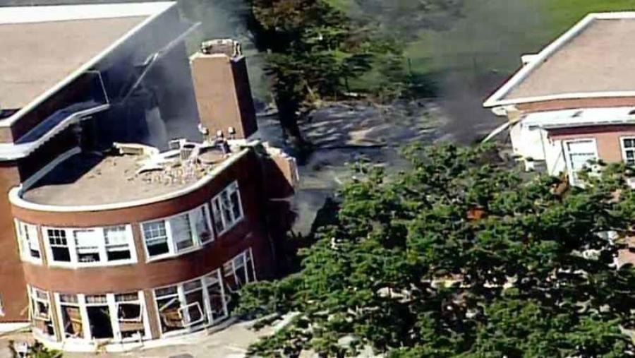 A natural gas explosion Aug. 2, rocked Minnehaha Academy's upper school in Minneapolis, causing a partial building collapse (Photo Credit: Star Journal).