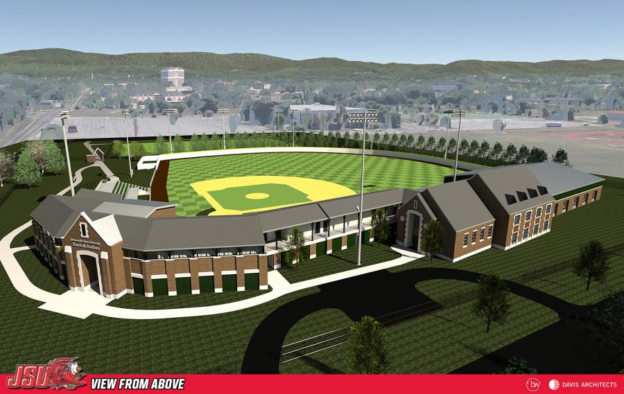 A redering of Jackson State University's new stadium.