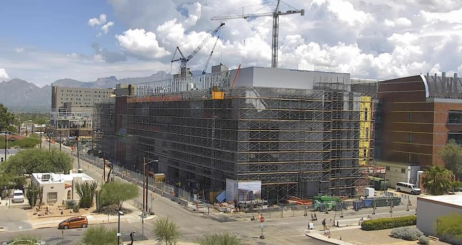 A 150,200-sq.-ft. building designed to advance bioscience research is being constructed on the campus of the University of Arizona in Tucson.