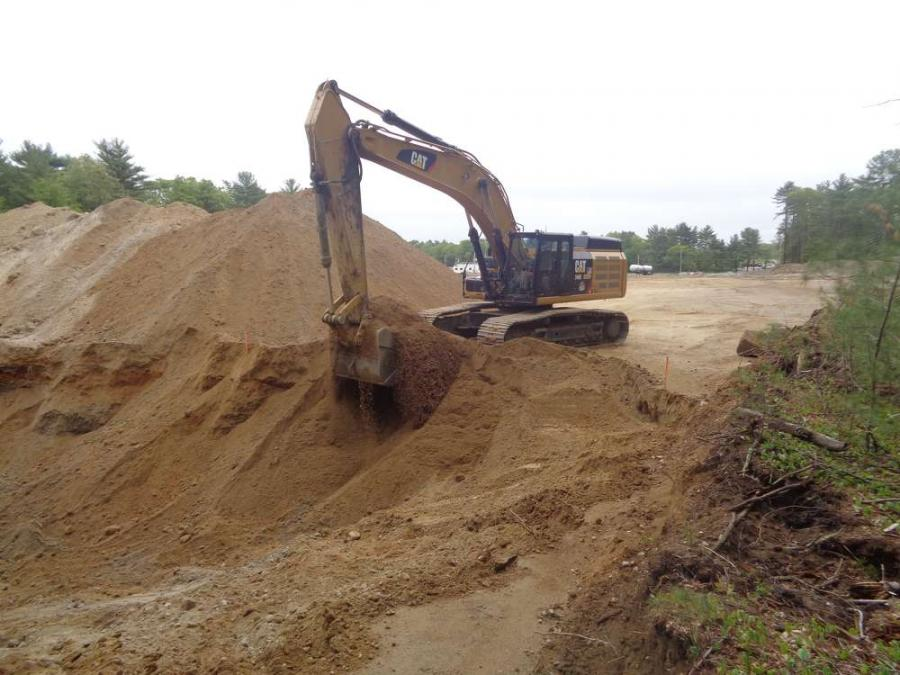 In Mansfield, Mass., work continues on a $35 million municipal complex that will include a public works administrative facility and a combination police and fire department structure. (Town of Mansfield DPW photo)