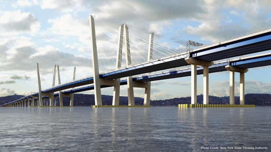 The first span of the Gov. Mario M. Cuomo Bridge will open to north/westbound traffic on Friday,  Aug. 25. Eastbound/southbound traffic will follow latter this fall.