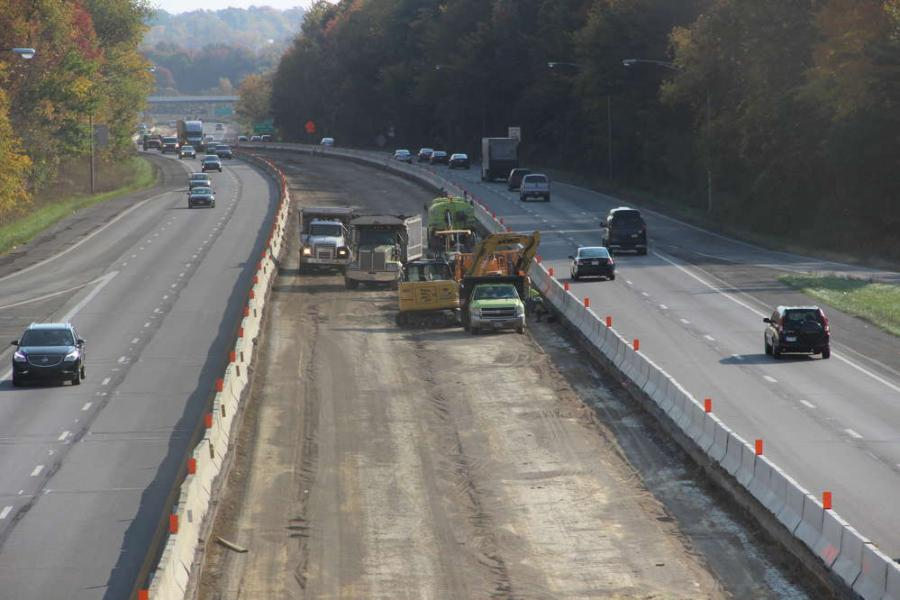 Crews from Kenmore Construction Inc. are widening a 5.6-mi. stretch of Interstate 76 from two lanes to three lanes in each direction between SR 21 and Central Avenue.