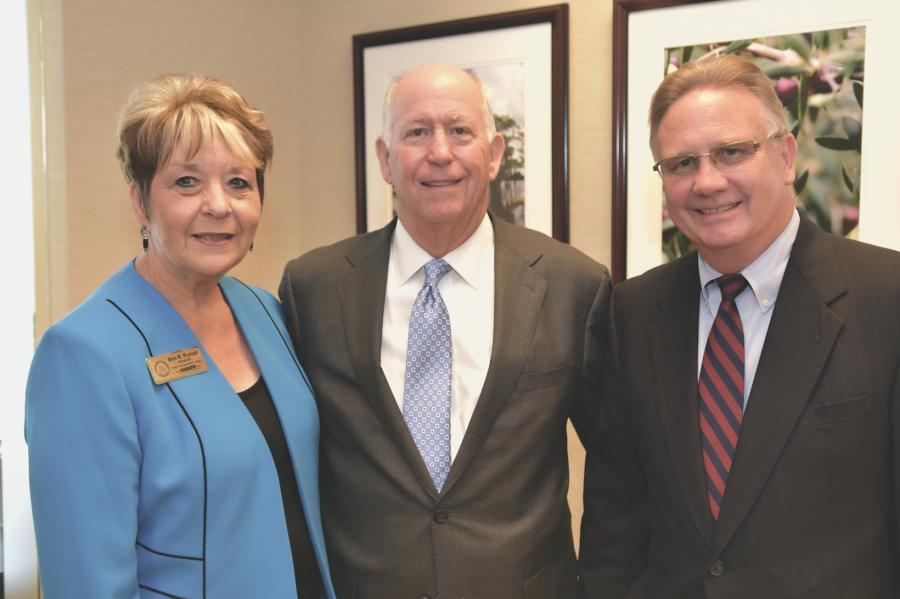(L-R) are Ann R. Purcell, vice chairman, Jamie Boswell, chairman and Tim Golden, secretary, all of the state transportation board.