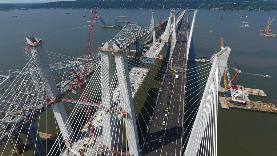 New York Gov. Andrew Cuomo opened the first span of the newly constructed Tappan Zee Bridge in a ceremony Aug. 24.