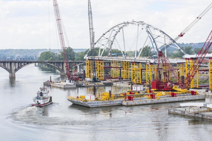 Arkansas DOT won in the medium project group for the Broadway Bridge over Arkansas River project.