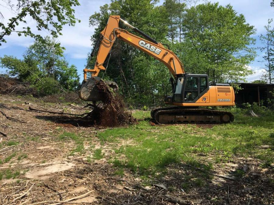 Keith Foltz of Foltz Land Management, a full service land management company, is currently hard at work clearing an 8-acre site to establish pasture and create strategic wildlife hunting and view sites across the property.