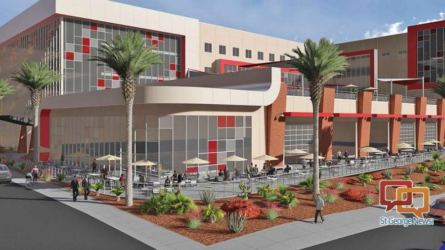 A rendering of a possible concept for Dixie State University's new Human Performance Center.