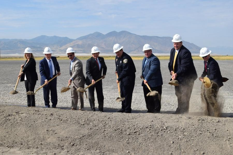 State officials conducted the ceremonial groundbreaking at the site of the new Utah State Correctional Facility.