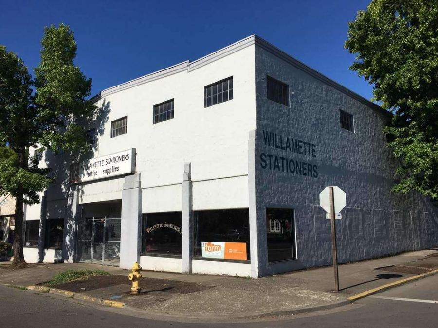 The University of Oregon has bought the former Willamette Stationers building and plans to renovate it into art studios and a gallery. (Dylan Darling/The Register-Guard photo)
