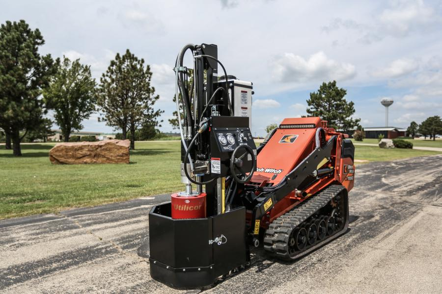 Utility contractors need not bring heavy and physically demanding equipment like jackhammers and backhoes for every utility maintenance project that requires asphalt or concrete repairs. Instead, they can operate a nimble, construction-grade Ditch Witch mini skid steer fitted with the new Utilicor MTC100 coring attachment to perform repairs without rerouting traffic or exposing large areas of open excavation.