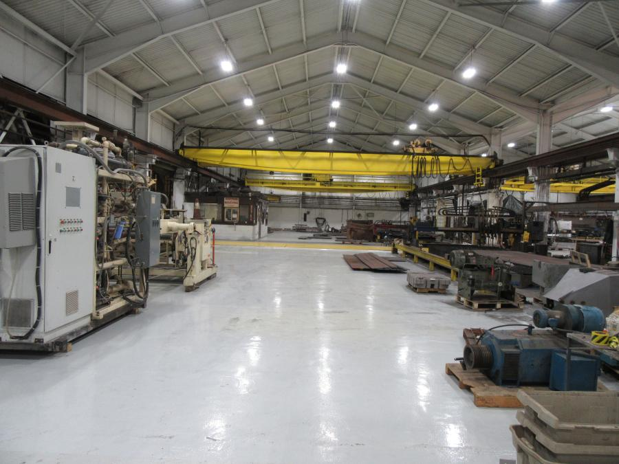 New lighting and new state-of-the-art factory grade flooring serve the dual purpose of increasing safety and efficiency for employees, while also providing space for both Loveman Steel & Fabrication and Plastic Machinery Group's customers to come see the equipment they offer.