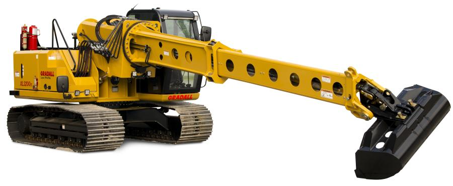 Gradall XL 3200V Lo Pro crawler excavator, designed specifically for extra-low overhead jobs.