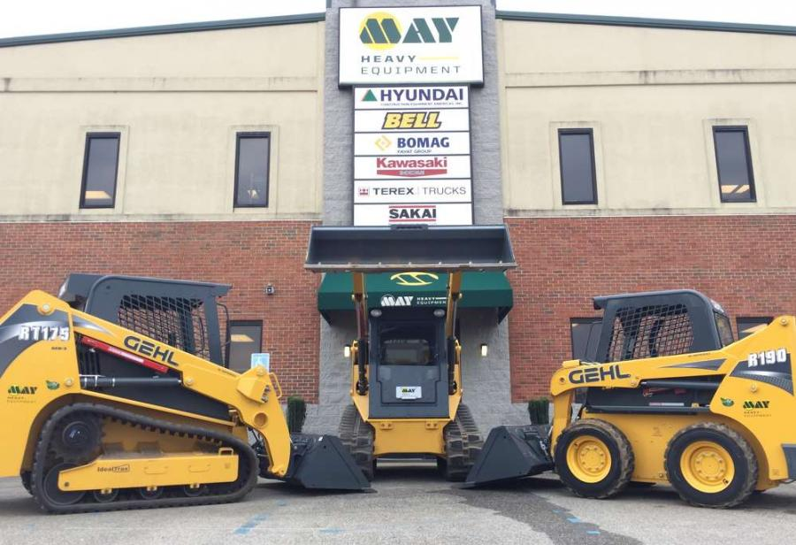 May Heavy Equipment will offer the full Gehl line of skid loaders, compact track loaders, compact excavators, articulated loaders and telescopic handlers at five locations throughout North and South Carolina.