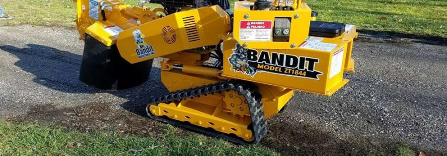 Hoistlift of Florida will offer sales, parts and service for all Bandit hand-fed chippers and stump grinders, including Bandit's Model ZT1844, a compact and powerful track stump grinder.