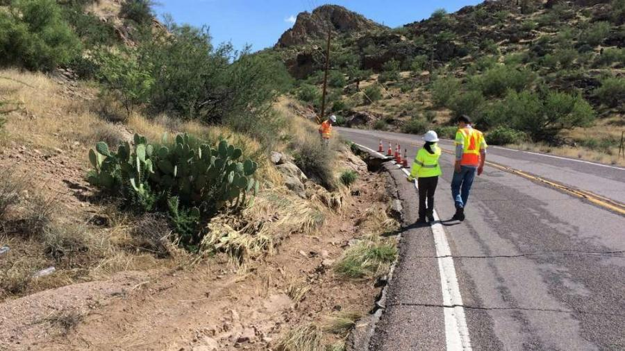A two-month repair project is under way on a 24-mi. stretch of state Route 88 (Apache Trail) between Apache Junction and an area east of Canyon Lake.