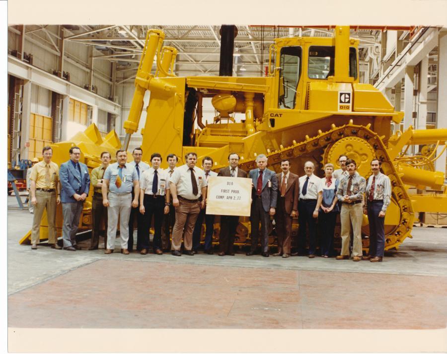 Cat Celebrates D10 Dozer's 40th Birthday   Construction